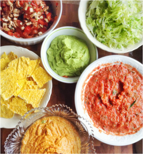 Nachos a 3 salsas